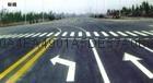 南京達尊白色虛線左轉彎導向標線