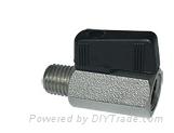 "3/8"" Mini Brass Ball Valve - Chrome Plated FxM NPT"