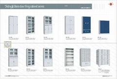 Factory supply sliding&glass door filing cabinet