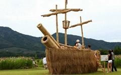 稻草藝朮雕塑