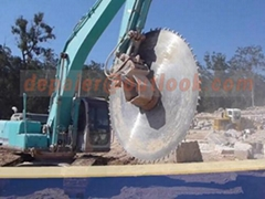 excavator attachment rock saw cutting blade