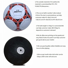 PVC Size 5 Soccer Ball With Custom Print