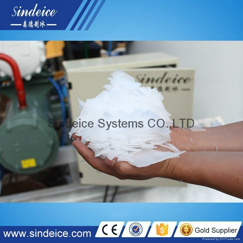 Flake ice machine for seafood fishery freezing with Bitzer Compressor 2