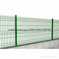 2017popular red color powder coated galvanized fence