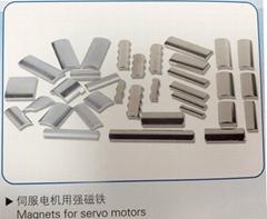 Magnets for servo motors
