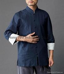 Linen Chinese style men's shirt
