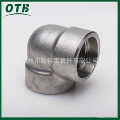 高压锻造管件不锈钢碳钢承插焊弯头承插套焊
