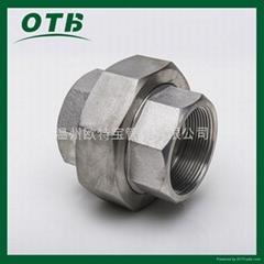 高压锻造管件不锈钢碳钢螺纹丝扣活接由壬内丝活接