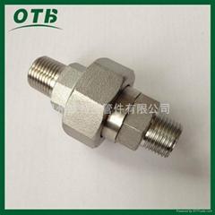 高压锻造管件双外螺纹外丝活接由壬304/316L,RC/NPT
