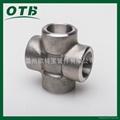 高压锻造管件承插焊四通不锈钢碳