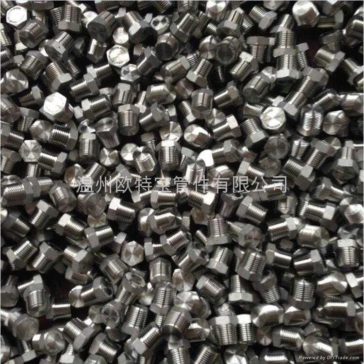 高压锻造管件不锈钢碳钢六角堵头管塞NPT/RC 4