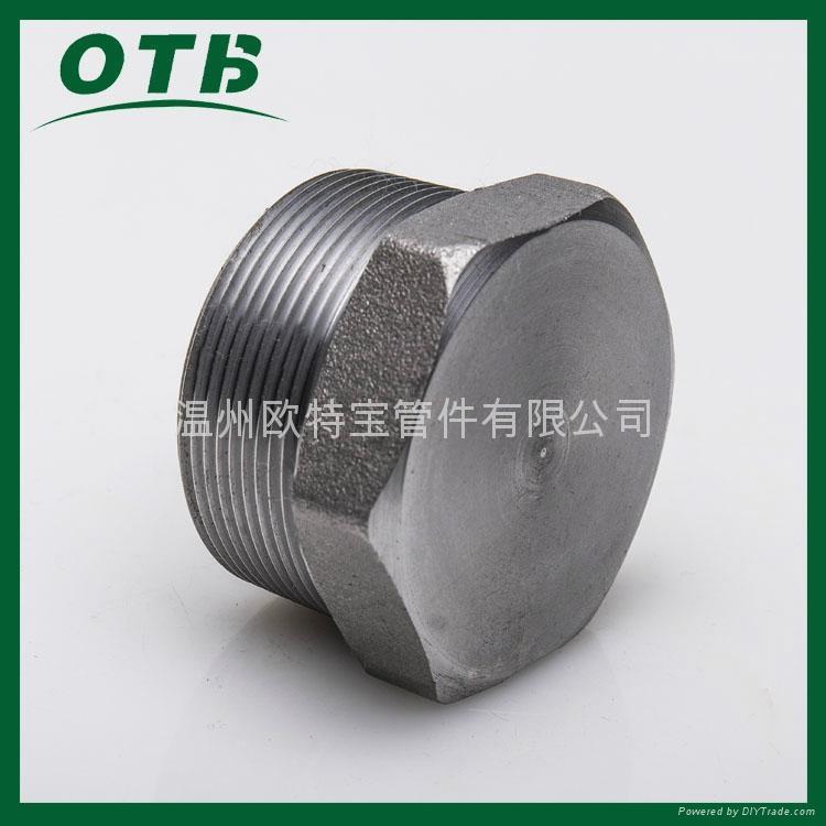 高压锻造管件不锈钢碳钢六角堵头管塞NPT/RC 1