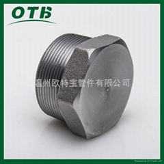 高压锻造管件不锈钢碳钢六角堵头管塞NPT/RC