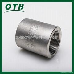 高压锻造管件螺纹丝口管箍内丝直通NPT/RC3000lbs/6000lbs/9000lbs