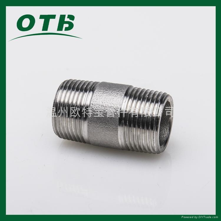 高压管件不锈钢碳钢304/316L/CS双头螺纹短节 1