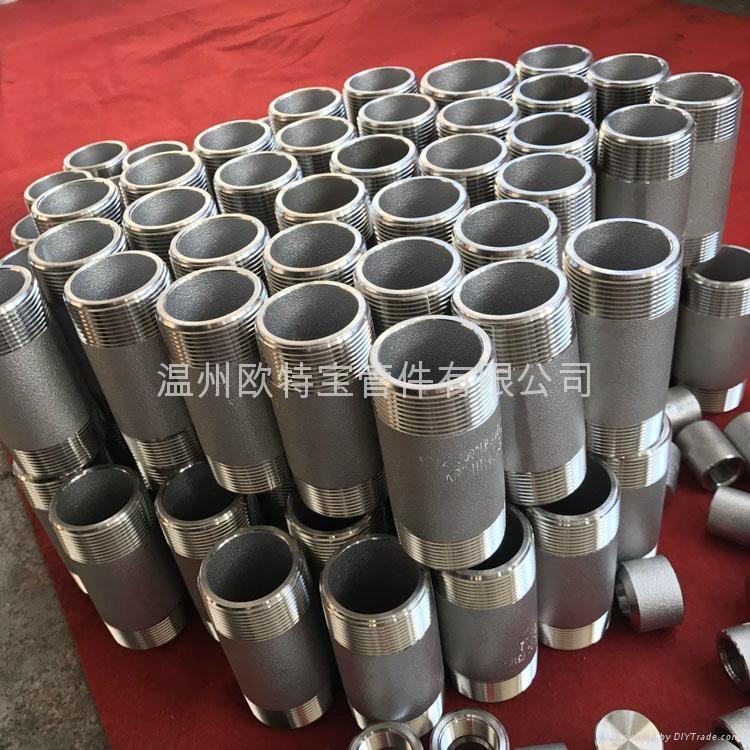 高压管件不锈钢碳钢304/316L/CS双头螺纹短节 3
