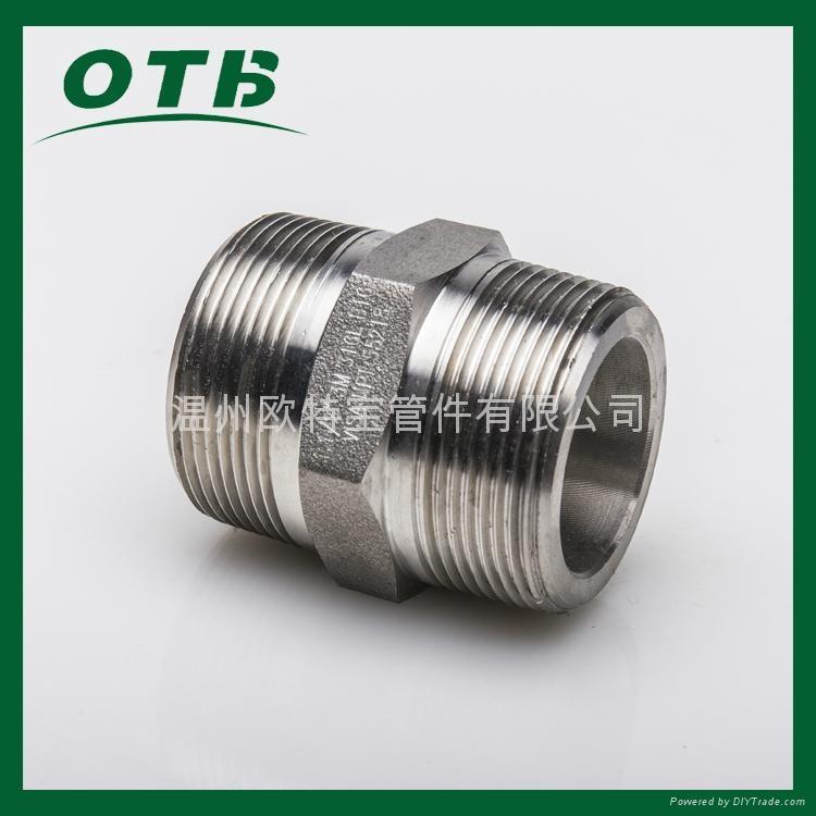高压管件不锈钢碳钢304/316L六角外丝管接头短管加厚 1