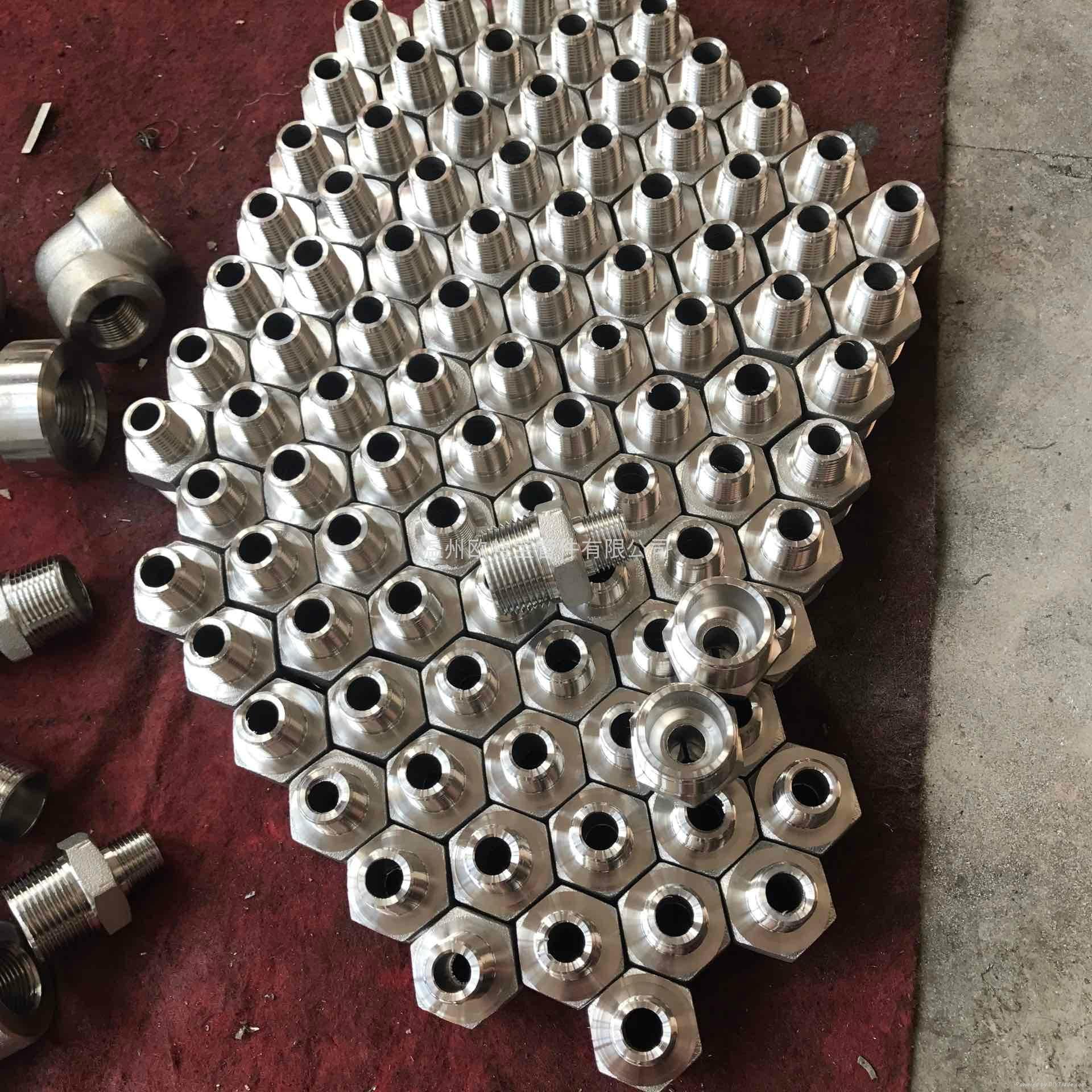 高压管件不锈钢碳钢304/316L六角外丝管接头短管加厚 4