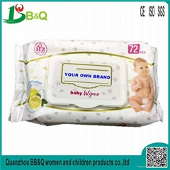 Private Label Wholesale Baby Wipe biodegradable & organic baby wet wipes