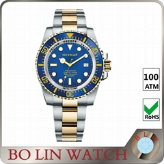 2017 new model stainless steel watch