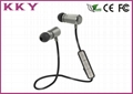 Sports In Ear Headphones , Wireless Sweatproof Headphones Alloy Metal Material