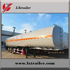 Aluminum Steel 50CBM oil fuel storage tanker semi trailer