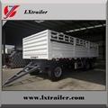 Full trailer type turnable drawbar cargo