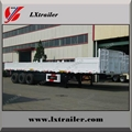 Howo tractor truck use tri axle flatbed drop side wall semi trailer dimensions 3
