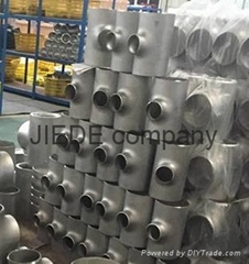 stainless welded reducer tee