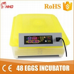 HHD cheap wholesale price solar energy egg incubator for sale 48 eggs YZ8-48