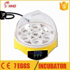 HHD 2017 hot sale intelligent Mini egg incubator for 7 eggs YZ9-7