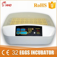 HHD 12 months warranty good quality automatic chicken egg incubators sale YZ-32