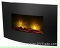"23"" Wall mounted electric fireplace,"