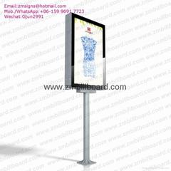 Lamp post advertising light box advertising billboard