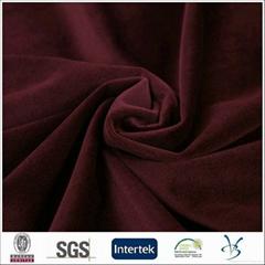 polyester hot sales italian velboa plush velvet men suit fabric