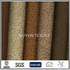 polyester knitted bronzed pu coated laminated upholstery furniture sofa fabric