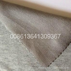 cotton+si  er elastic anti radiation fabric for underwear and bellyband