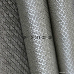 rfid blocking material grid woven conductive fabric for bags liner