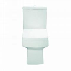 Two piece gravity  flushing ceramic wc toilet