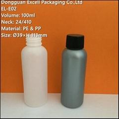 100ml PE Bottle for Liquid Makeup Packaging
