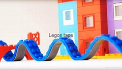 Nimuno loops toy block tape compatible with legos building bricks