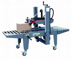 Semi-automatic case sealing coding and labeling machine In Construction industry