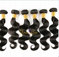 Wholesale  Natural Virgin Remy Indian Human body Weave human hair weft/weaving 2