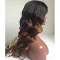 Long   Fashion Virgin Brazilian Human Hair Full Lace  Hair Wigs 2