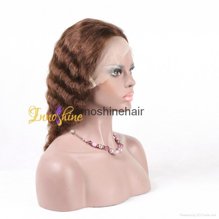 100% Wholesale Virgin Brazilian Human Hair Remy Full Lace Wig 1