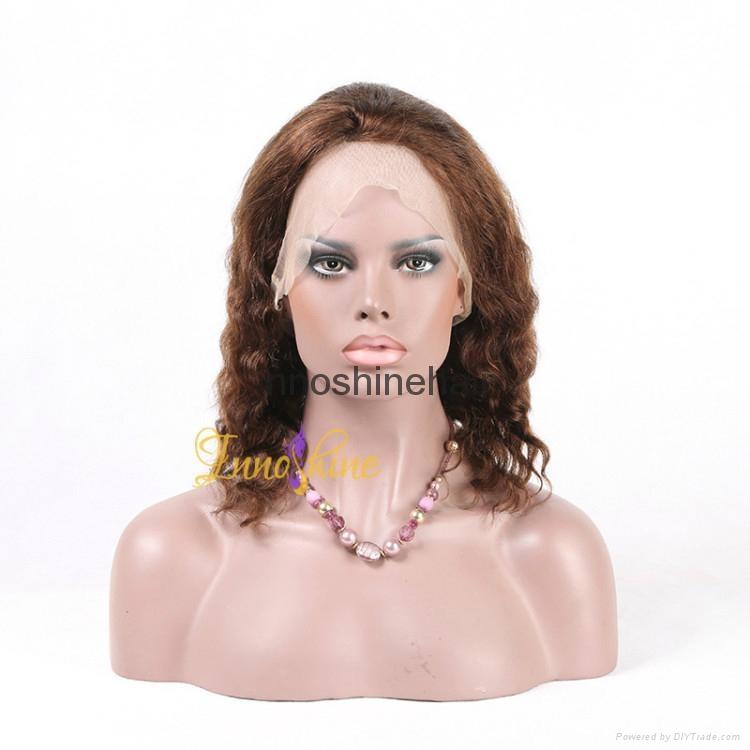 100% Wholesale Virgin Brazilian Human Hair Remy Full Lace Wig 3