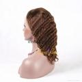 100% Wholesale Virgin Brazilian Human Hair Remy Full Lace Wig 4