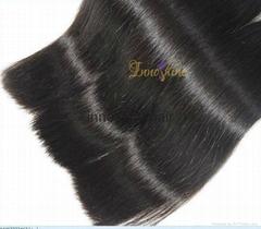 Wholesale Double drawn Silky straight human hair weft hair weaving