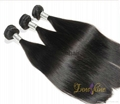 Wholesale Double drawn Silky straight human hair weft hair weaving 3
