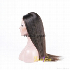100% Wholesale Virgin  Human Hair silky straight Remy Full Lace Wig